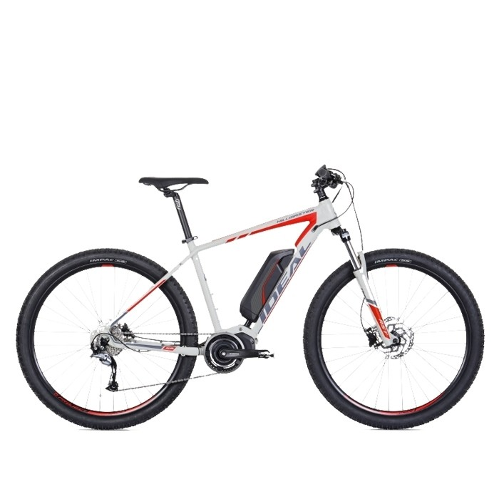 Ideal Hillmaster-E9 Electric Mountain Bike Cement/Red