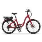 Wisper 705SE Step Through Electric Bike - Claret Red