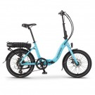 Wisper 806SE Folding Electric Bike Blue