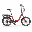 Wisper 806SE Folding Electric Bike Red